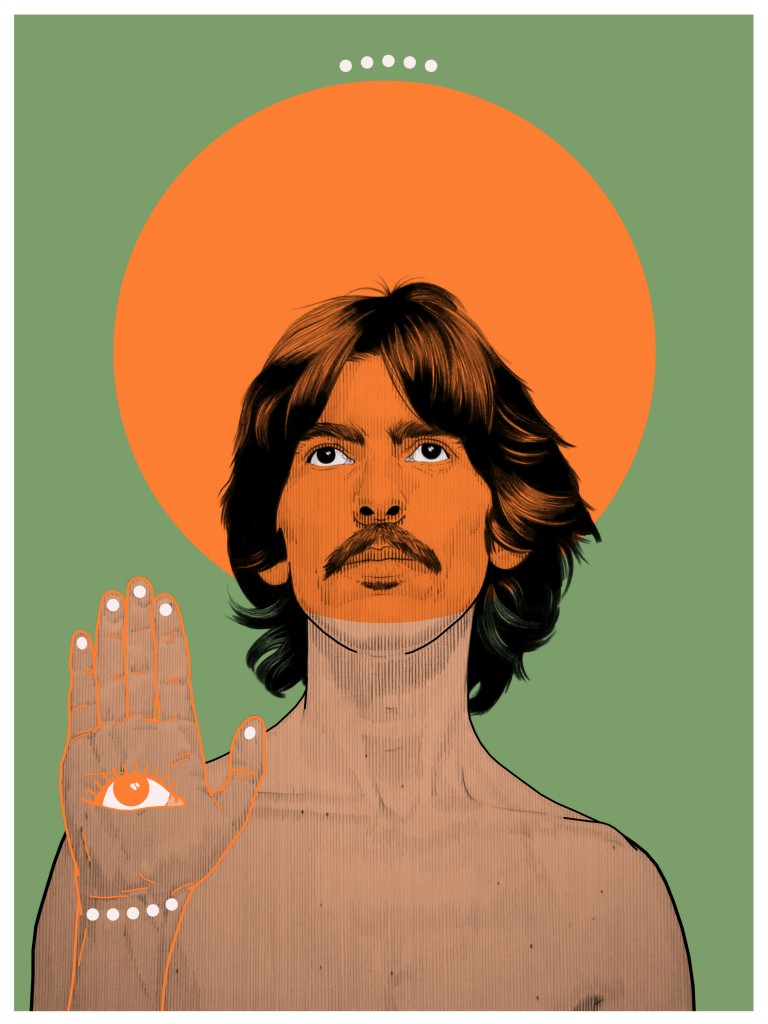 Psychedelic George Harrison(Dots) copy